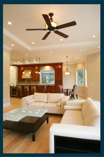 Track Or Recessed Lights Ceiling Fans Wall Sconces And Floor Table Lamps Can All Be Utilized In This Multi Purpose Room